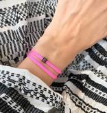 "N*ITIAL  Armband oder Halskette ""E"" schwarz"