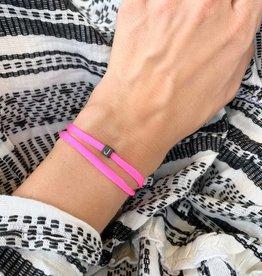 """N*ITIAL  Bracelet or Necklace """"J""""  black"""