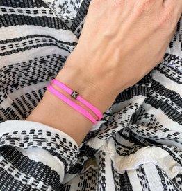 """K"" / N*ITIAL  Armband oder Halskette  schwarz"