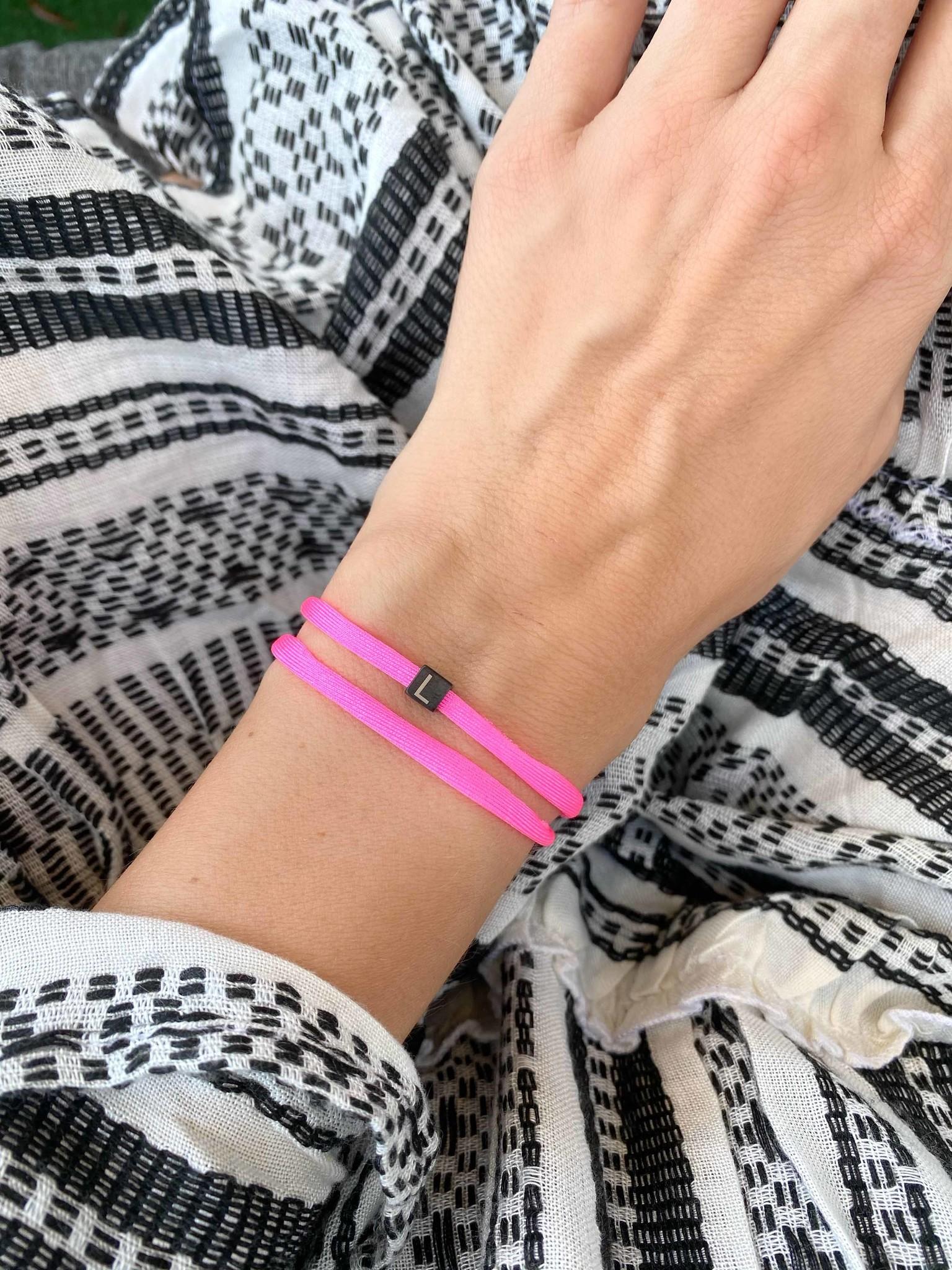 """N*ITIAL  Bracelet or Necklace """"L""""  black"""