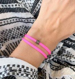 """M"" / N*ITIAL  Armband oder Halskette  schwarz"