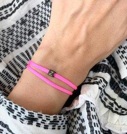 """Z"" / N*ITIAL  Armband oder Halskette  schwarz"