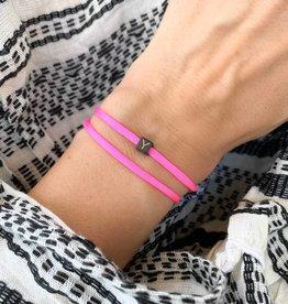 "N*ITIAL  Bracelet or Necklace ""Y""  black"