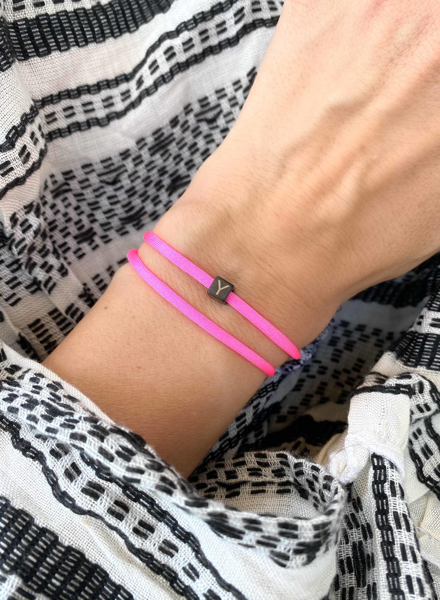 "N*ITIAL  Armband oder Halskette ""Y"" schwarz"