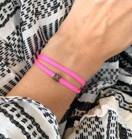 "N*ITIAL  Bracelet or Necklace ""X""  black"