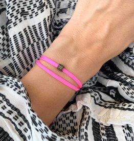 """W"" / N*ITIAL  Armband oder Halskette  schwarz"