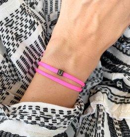 """U"" / N*ITIAL  Armband oder Halskette  schwarz"