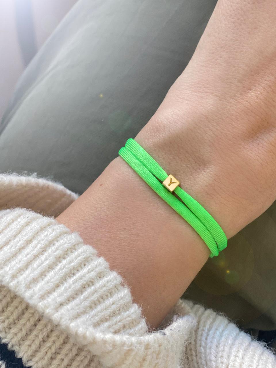 "N*ITIAL  Armband oder Halskette ""Y"" gold"