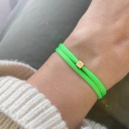 """N*ITIAL  Armband oder Halskette """"W"""" gold"""