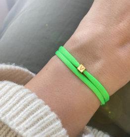 """N*ITIAL  Bracelet or Necklace """"V""""  gold"""