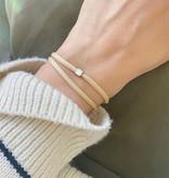 """N*ITIAL  Bracelet or Necklace """"V""""  silver"""