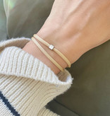 "N*ITIAL  Bracelet or Necklace ""U""  silver"