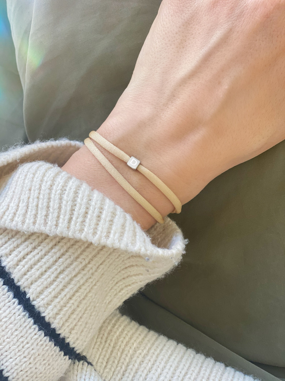"N*ITIAL  Armband oder Halskette ""D"" silber"