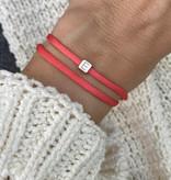 """N*ITIAL  Armband oder Halskette """"E"""" rosegold"""
