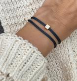 """N*ITIAL  Bracelet or Necklace """"H""""  rosegolden"""