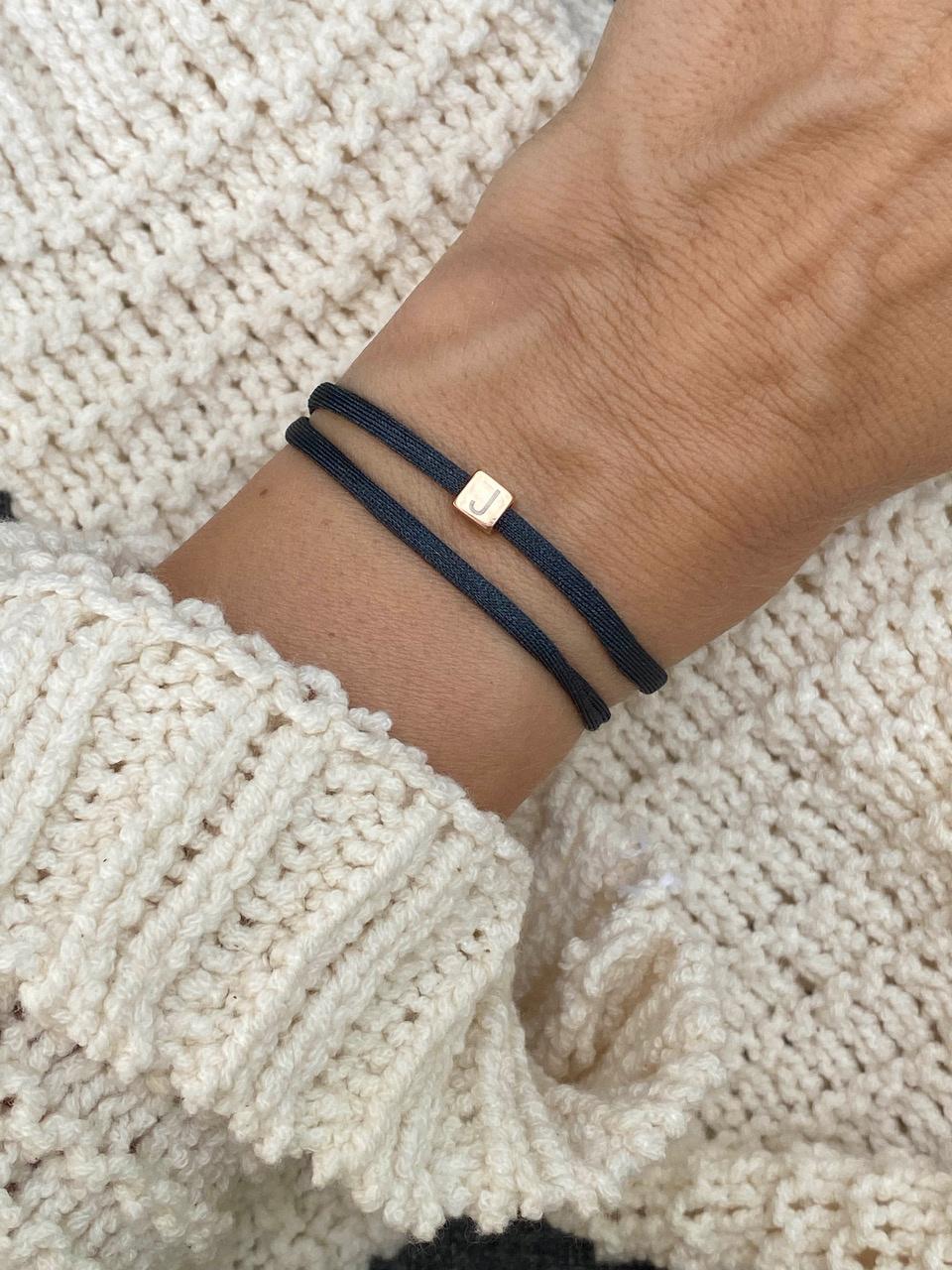 """N*ITIAL  Armband oder Halskette """"K"""" rosegold"""