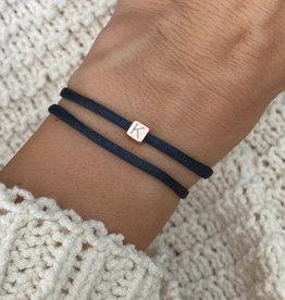 """""""J"""" / N*ITIAL  Armband oder Halskette  rosegold"""