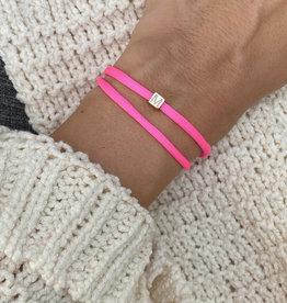 """""""M"""" / N*ITIAL  Armband oder Halskette  rosegold"""