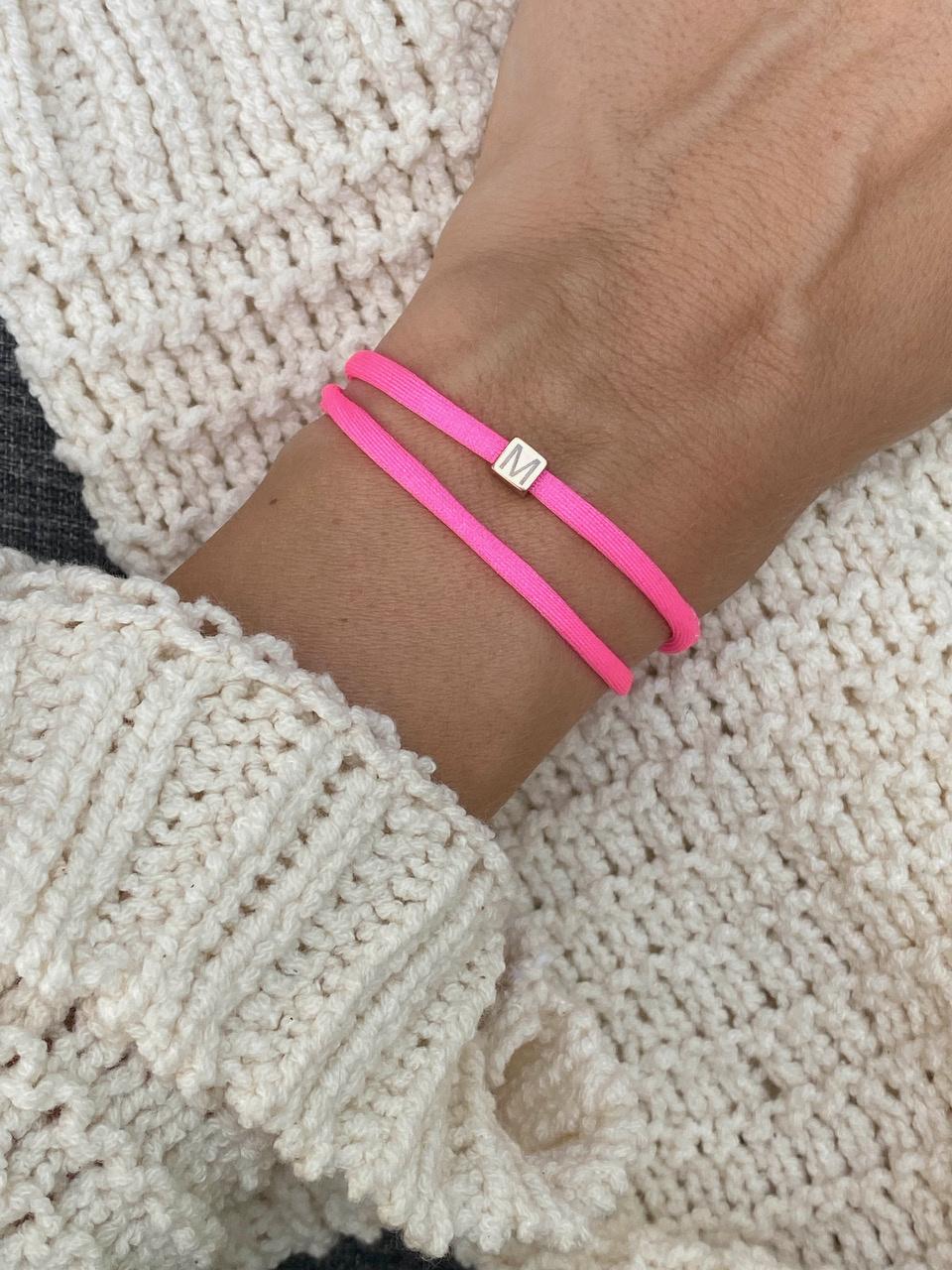 """N*ITIAL  Armband oder Halskette """"M"""" rosegold"""