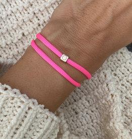 """""""O"""" / N*ITIAL  Armband oder Halskette  rosegold"""