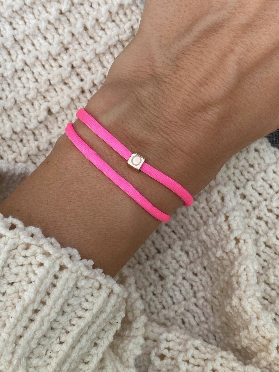 """N*ITIAL  Bracelet or Necklace """"O""""  rosegolden"""