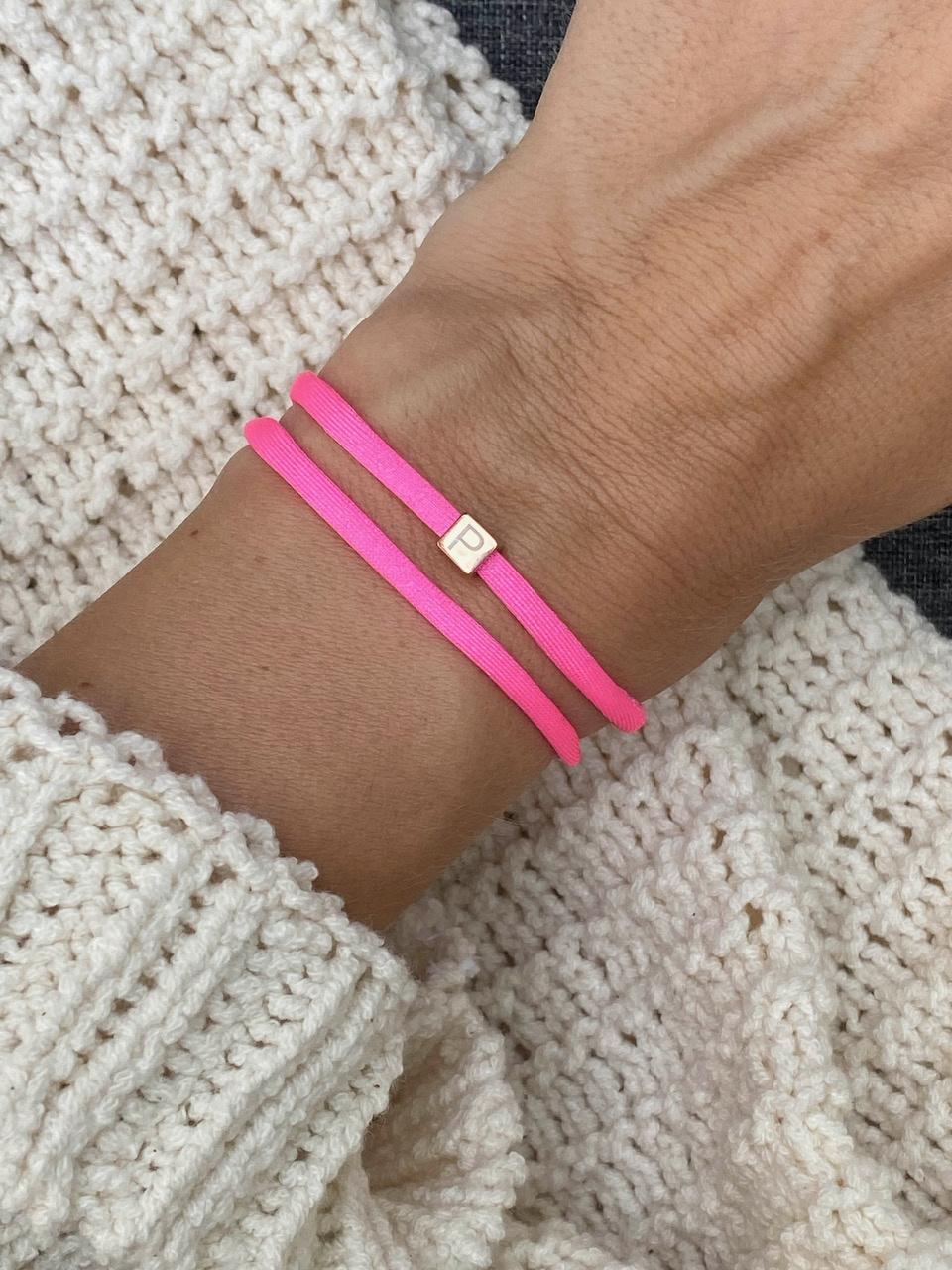 """N*ITIAL  Bracelet or Necklace """"P""""  rosegolden"""