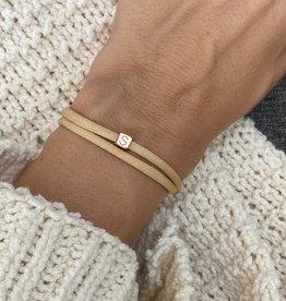 """""""S"""" / N*ITIAL  Armband oder Halskette  rosegold"""