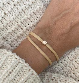 """""""V"""" / N*ITIAL  Armband oder Halskette  rosegold"""