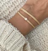 """N*ITIAL  Bracelet or Necklace """"W""""  rosegolden"""