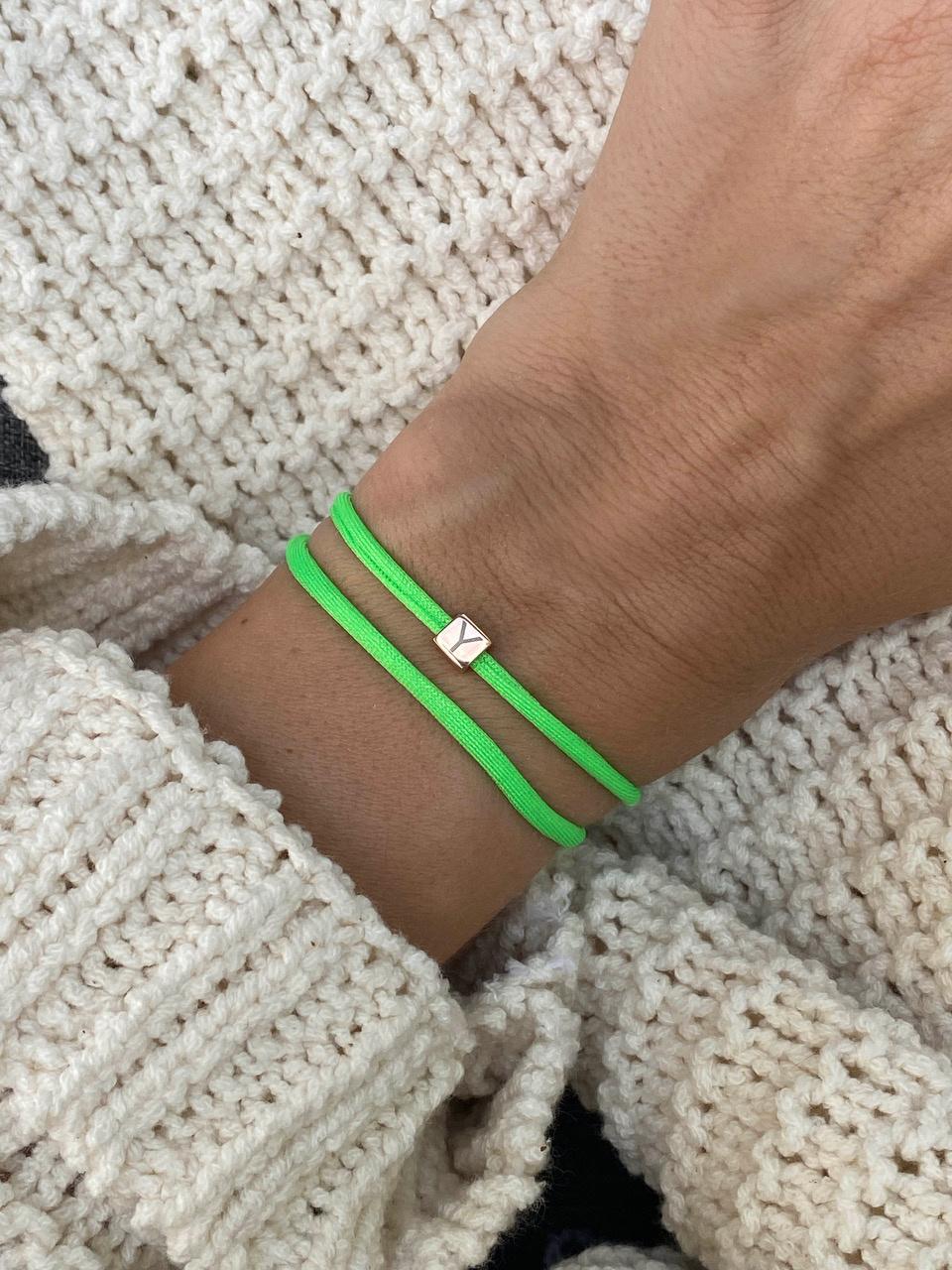 """N*ITIAL  Armband oder Halskette """"Y"""" rosegold"""