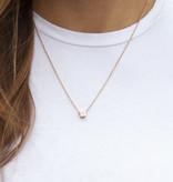 "N*ITIAL  Armband oder Halskette ""W"" rosegold"