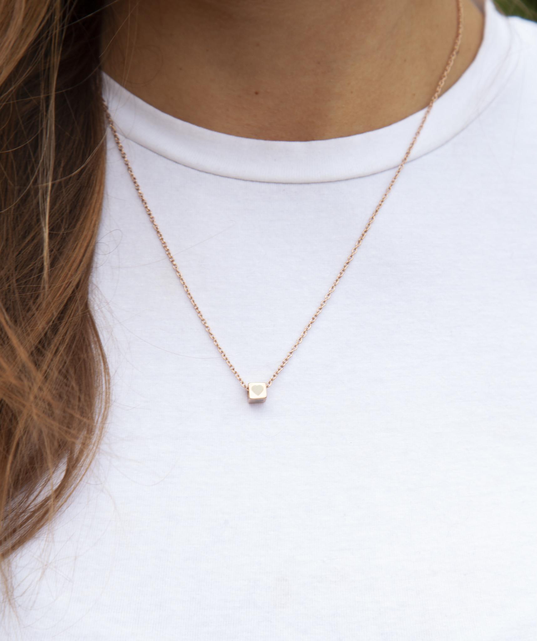 """N*ITIAL  Armband oder Halskette """"J"""" rosegold"""