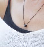 """N*ITIAL  Armband oder Halskette """"Q"""" schwarz"""