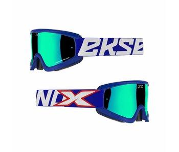 EKS Brand GOX FLAT OUT MIRROR Blue/ Blue mirror lens