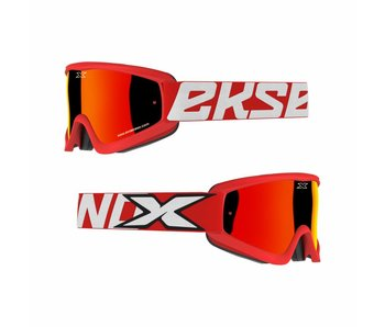 EKS Brand GOX FLAT OUT MIRROR Red/ Red mirror lens