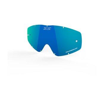 EKS Brand GO-X ANTI-FOG LENS, BLUE/MIRROR