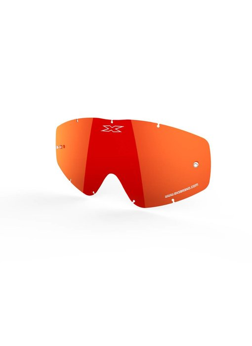 EKS Brand GO-X ANTI-FOG LENS, RED/MIRROR