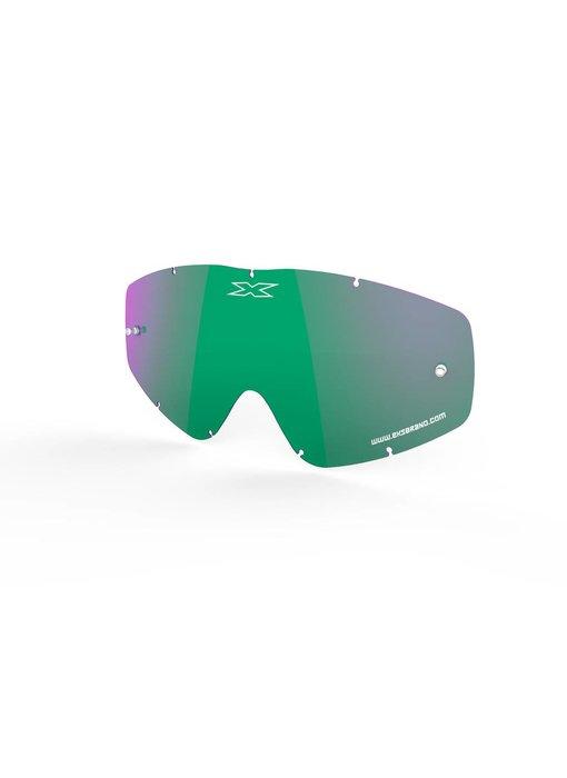 EKS Brand GO-X ANTI-FOG LENS, GREEN/MIRROR