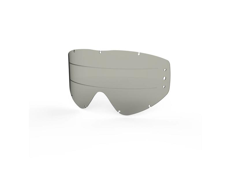EKS Brand GO-X ZIP OFF ANTI-FOG RAIN LENS, SMOKE