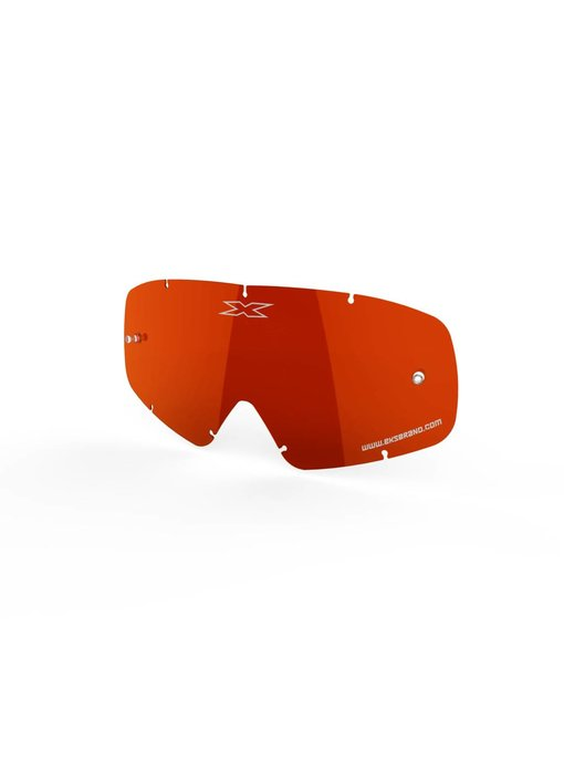EKS Brand X-GROM ANTI-FOG LENS, RED TERMINATOR/MIRROR