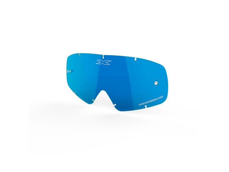EKS Brand X-GROM ANTI-FOG LENS, BLUE/MIRROR