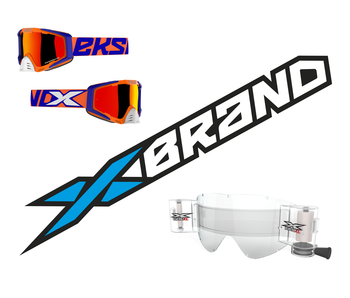 """EKS Brand """"EKS-S"""" Flo Orange/Blue/White - RACERPACK"""