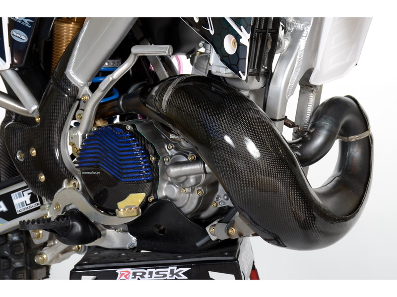 Carbon Exhaust guard TM Racing MX/EN 250/300 2019-....for HGS