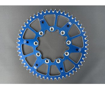 Moto-Master 520 Rear sprocket alu TM Racing (Blue, 520-52t)