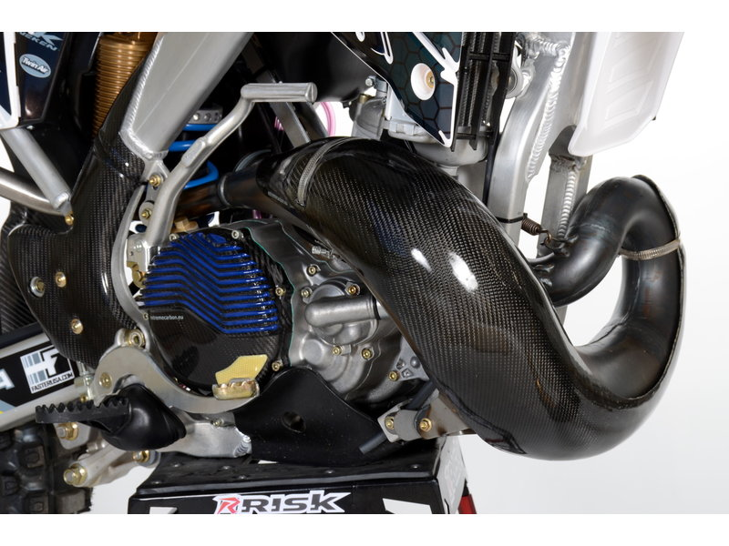 Carbon Exhaust guard TM Racing MX/EN 250/300 2017-2018 (for Pro Circuit)