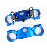 GPR TM 48/23 Top & Bottom Clamp Set (Blue Annodized + V4 Pro Kit Black)