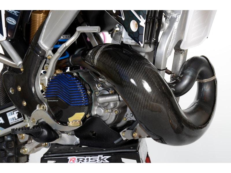 Carbon EXHAUST GUARD MX/EN 250/300 08-18