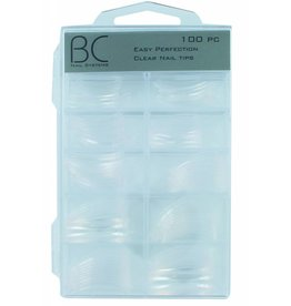 BC Nails BC Nails Easy Perfection Clear Nail Tips 100 stuks