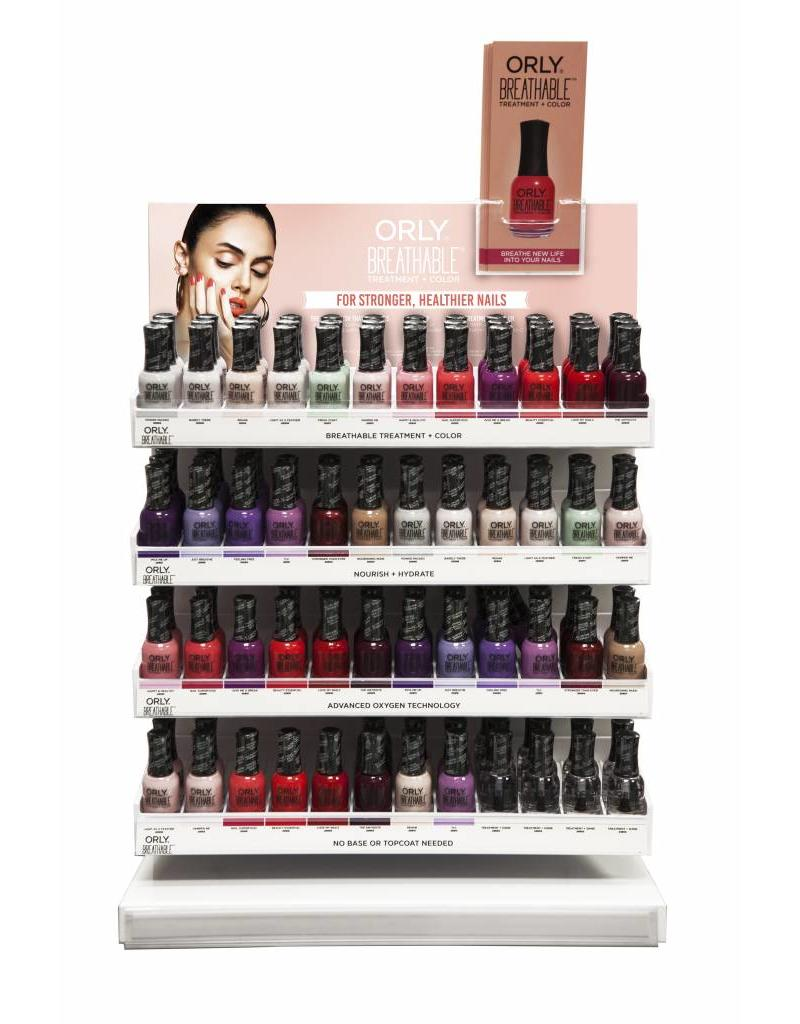 ORLY Breathable 18ml Lacquer Counter Display