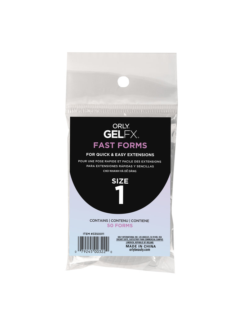ORLY GELFX Fast Forms Size 1 50pc/pack